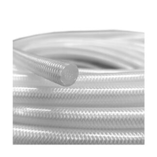 Vaccum Hose SILICON HOSE Speedway 6mm bore PVC Reinforced Fuel pipe - Clear